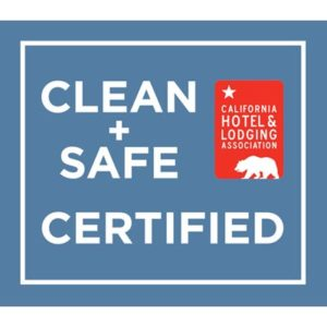 logo with text Clean & Safe Certified